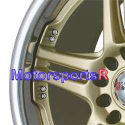 Gold Rims Wheels 06 07 08 09 10 11 Honda Civic SI Accord EX CRV LX SE