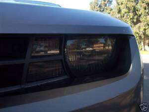 2010 Chevy Camaro smoked head light overlays rs ss tint