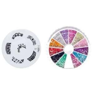 MoYou Nail Art Image Plate A17+ Rhinestone Pack 1200 premium quality