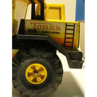 Vintage Tonka TURBO DIESEL Dump Truck Pressed Steel Metal Toy