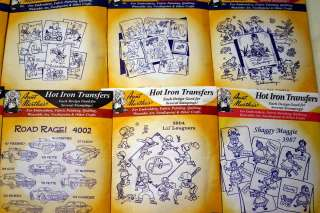 Vintage AUNT MARTHAS Hot Iron Transfers ~Lot of 27~ Embroidery Martha