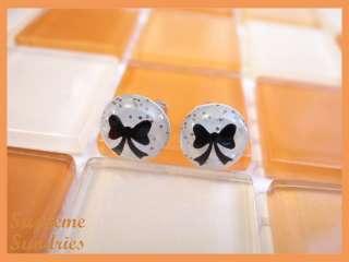 20g 0.8mm Butterfly Bow Fake Ear Plug Earrings Stud 255