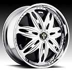 28 DUB SPIN Ravenous Wheel SET 28x10 Chrome Rims for RWD 5 & 6 Lug