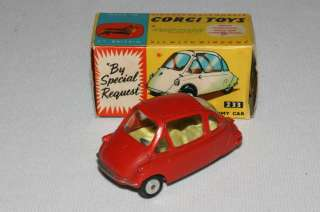 Corgi 1960s Heinkel Economy Car, #233 with Box, Nice Original