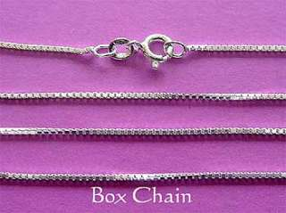 Solid 925 Sterling Silver Box Chain Necklace 80cm 32