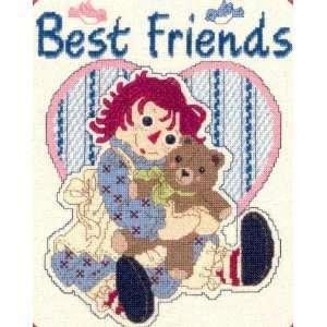 Raggedy Ann & Teddy Bear Best Friends Cross Stitch Leaflet