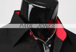 Mens Casual Shirts Stylish S M L XL BLK/WTE GOOD