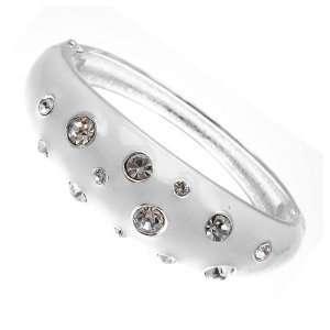 Acosta Jewellery   White Enamel & Crystal   Fashion Bracelet / Bangle