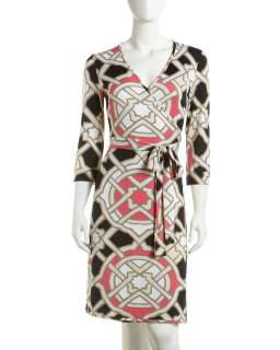 JB by Julie Brown Stained Glass Print Wrap Dress