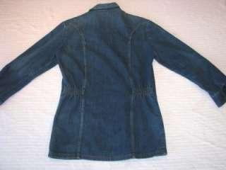 Vintage 70s WRANGLER DENIM WORK JACKET jeans Big E Rockabilly Biker