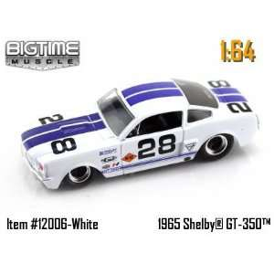 Jada Dub City Big Time Muscle White 1965 Shelby GT 350 with Blue