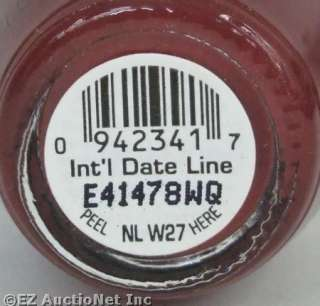 OPI Nail Polish Lacquer International Intl Date Line Brown Maroon