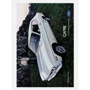 Retro Car Prints Ford Capri 1971   Car Advertisement