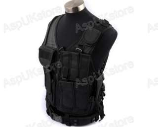 Airsoft Mesh Designed with Holster Vest Black AG
