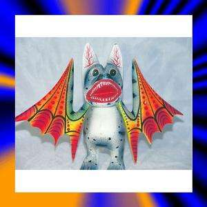 Bat Oaxacan Wood Carving Alebrije Oaxaca Mexican Folk Art Antonio