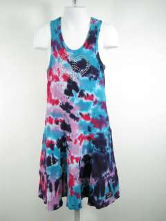 UNDEE BANDZ Girls Pink Blue Tie Dye Sleeveless Dress 6