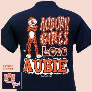 Auburn T shirt Auburn Girls Love Aubie