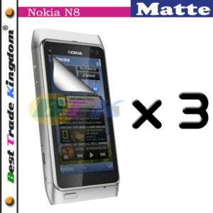 3x Matte Anti Glare LCD Screen Protector Film for Nokia N8 Vasco