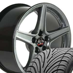 Saleen Style Wheels and Tires with RivetsFits Mustang (R
