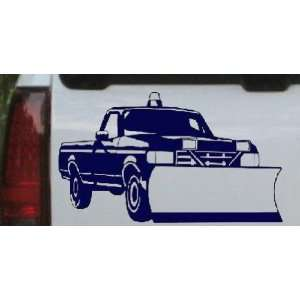 Snow Plow Truck Business Car Window Wall Laptop Decal Sticker    Navy