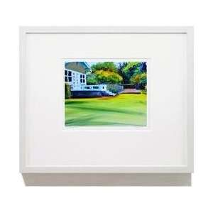 House Garden 16 X 20 White Framed Print Wall Art