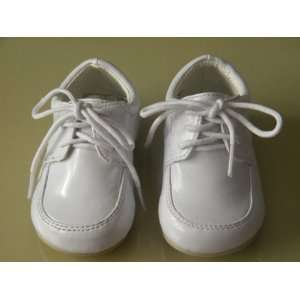Infant & Toddler Boys White Dress Leather Shoes Tuxedo