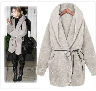 New Women Winter Warm Hoodie Outerwear Cardigan Jacket Coat