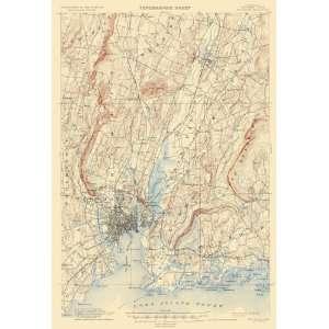 USGS TOPO MAP NEW HAVEN QUAD CONNECTICUT (CT) 1892 Home & Kitchen