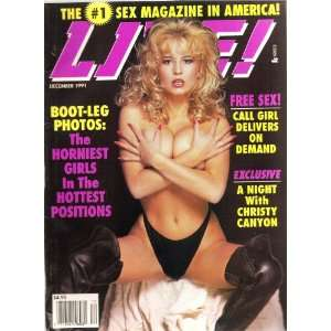 LIVE DECEMBER 1991 CHRISTY CANYON: HIGH SOCIETY MAGAZINE: Books