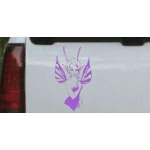 Cute Pixie Fairy Car Window Wall Laptop Decal Sticker    Purple 40in X