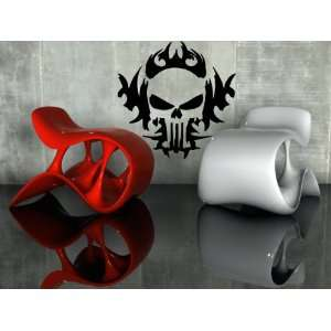 Cool and Scary Skull Design Punisher Decor Wall Mural