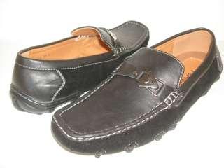 NIB MEN BLACK Leather Suede DRIVING SHOE MOCS GS5