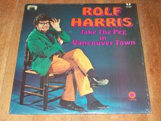 Rolf Harris rare LP Jake the Peg in Vancouver Town (ST 6363)
