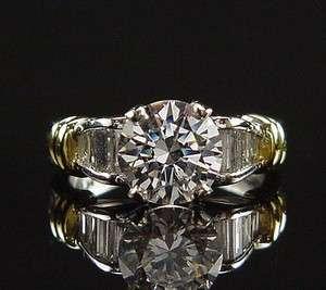 SCOTT KAY PLATINUM 18K DIAMOND ENGAGEMENT RING RETAIL $6800