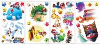 32 pc SUPER MARIO GALAXY 2 Wall Stickers Decals NINTENDO WII Yoshi