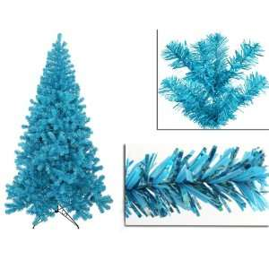 Blue Artificial Sparkling Christmas Tree   Teal Lights
