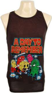 DAY TO REMEMBER PACKMAN Brown Tank Top Men S