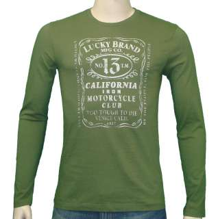 Lucky Brand Jeans Whiskey Label T Shirt Green