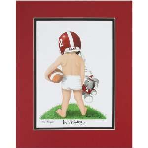 Alabama Crimson Tide Football Player in Training 11 x 14