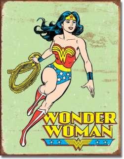 Wonder Woman Retro Superhero Comics Vintage Metal Tin Sign Home Decor