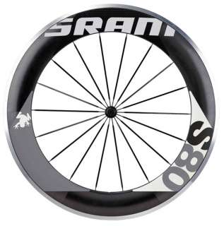 SRAM 2012 S80 Carbon Clincher Road Bike Front Wheel Black/Grey 700c