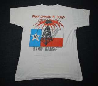 VINTAGE IRON MAIDEN REMEMBER THE ALAMO SHIRT 1983 M
