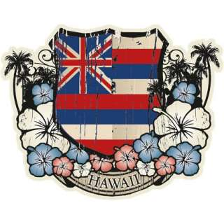 hawaiian flag emblem sticker decal from hawaii click here to visit