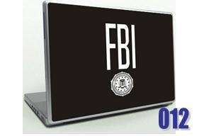 Unique FBI Logo Laptop Skin Decal   Leather Look