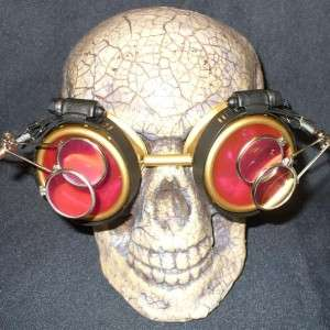 Steampunk Goggles Glasses cyber lens GR goth punk RAVE