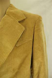 Vintage LEE Tan Corduroy Western Style Blazer Suit Jacket 40L 40 Long