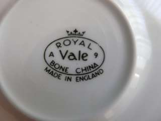 VINTAGE ROYAL VALE BONE CHINA SAUCER ENGLAND