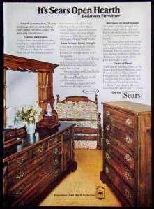 1977  Open Hearth Furniture Collection Magazine Ad