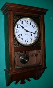 BEAUTIFUL WELBY REGULATOR WALL CLOCK WORKS GREAT 31 DAY WIND
