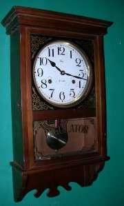 BEAUTIFUL WELBY REGULATOR WALL CLOCK WORKS GREAT 31 DAY WIND